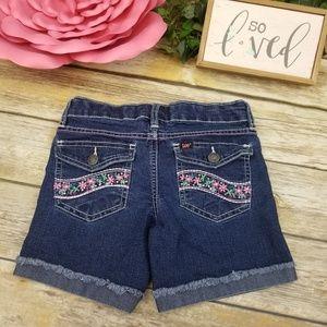 Lee Mid Shorts Bling Embroidered Pocket Girls Sz 8